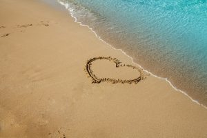 Heart on the beach